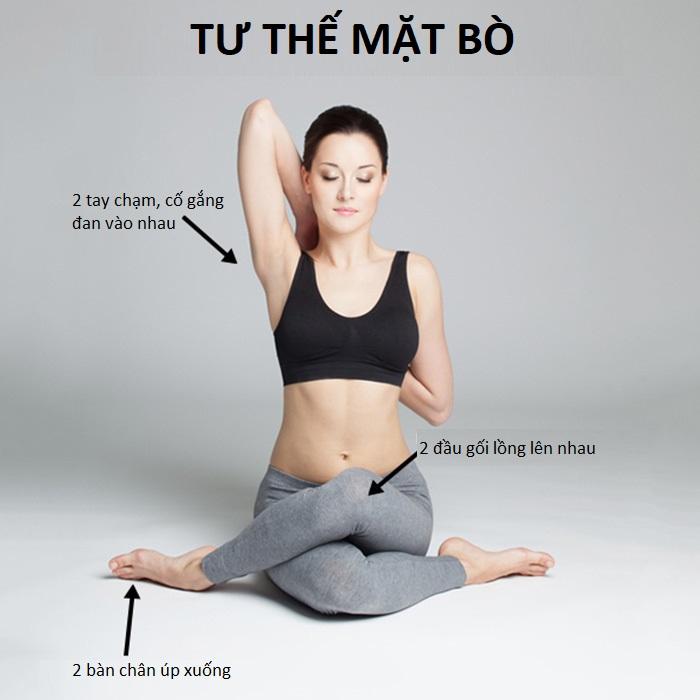 Yoga tư thế mặt bò - Yoga giúp làm giảm đau thắt lưng